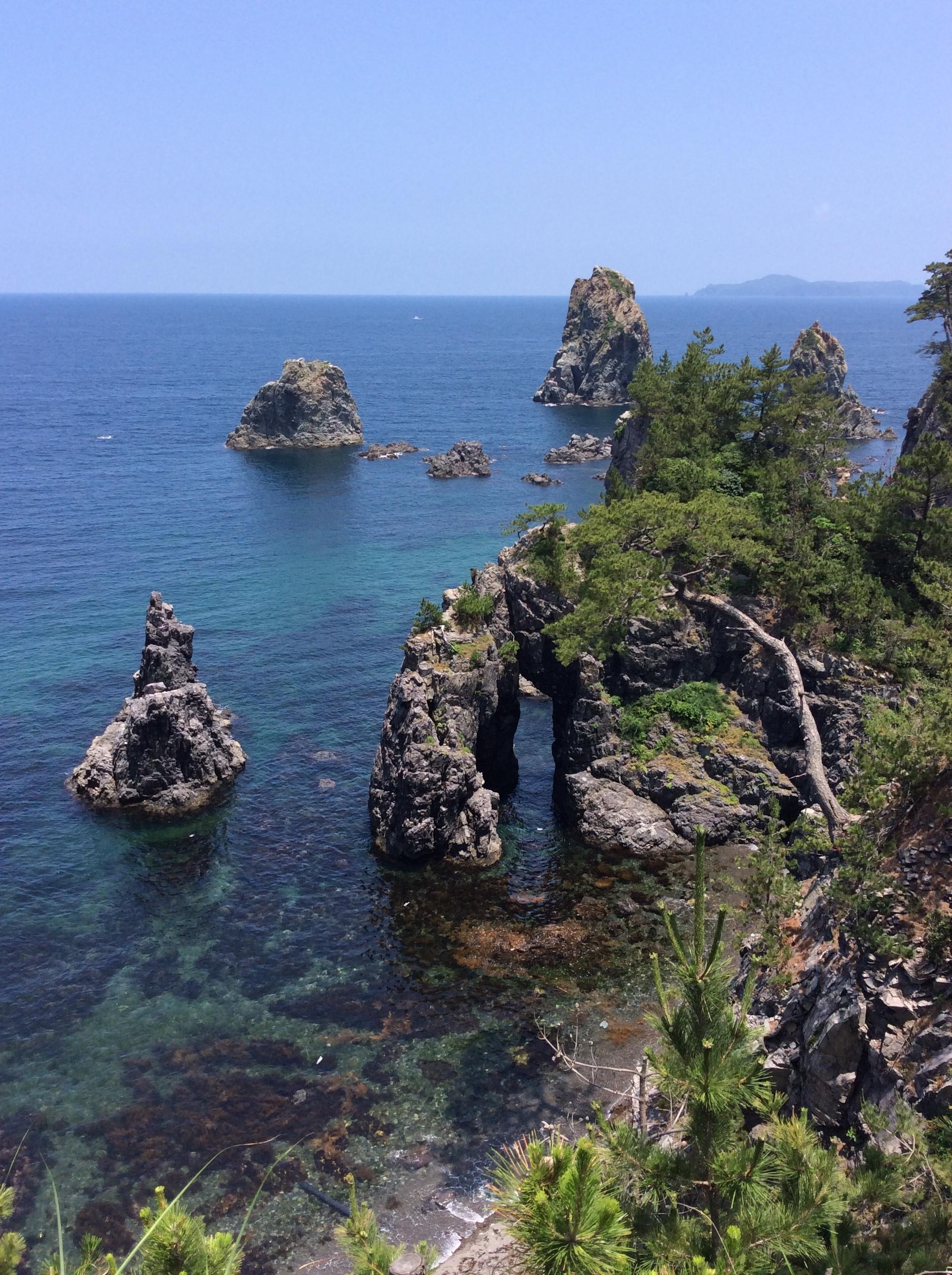 山口県は海に囲まれています