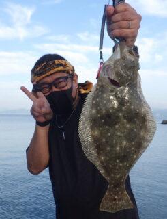 海老で鯛を釣る(ヒラメ編)